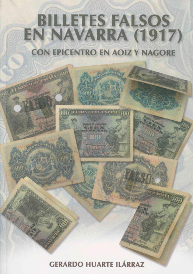 'Billetes falsos en Navarra', anverso