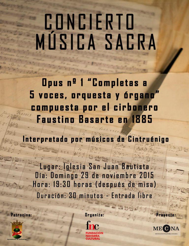 'Concierto de música Sacra', cartel